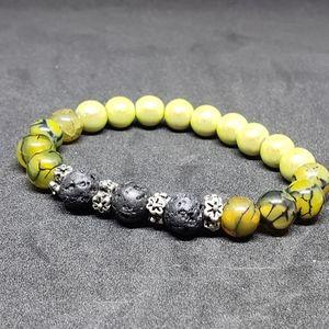 Dragon vein agate aromatherapy bracelet